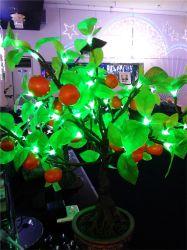 Indicatore luminoso di plastica chiaro dell'albero della resina della decorazione di paesaggio del fiore della frutta dell'albero