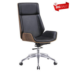 Saleの卸し売りModern Ergonomic Computer Manager Office Genuine Leather Swivel Metal Executive Chair