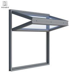 공장 직영 공급 레스토랑 파우더 코팅 알루미늄 프레임 유리 수직 접이식 이중 창문/5mm/6mm 유리 낮은 E 열/냉방음창을 들어 올립니다 안전 창