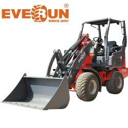 중국 공장 가격 에버룬 CE 인증 굴절식 소형 Er1220 1.2ton 농용 버킷 셔블 건설 장비 소형 미니 휠 로더 판매