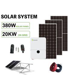 Kit certificato CE TUV sistema solare a griglia Pannello solare da 20 kw