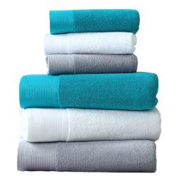 도매 주문 호텔 홈 온천장 살롱 목욕 수건은 100% 유기 면을 놓았다