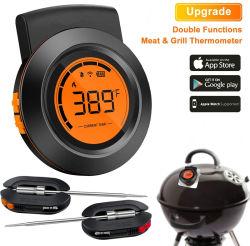 Digital-Fleisch-drahtloser FernnahrungBluetooth BBQ-Ofen-Grill-Thermometer für Gitter
