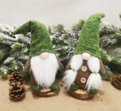 L'homme poupée sans visage à l'intérieur de style des décorations de Noël Noël Santa Claus poupées debout de coton