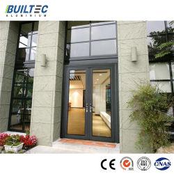 Moderno design personalizado vidraças duplas de vidro da porta de Abertura e Fechamento do pivô de alumínio