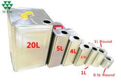 1L пустой оливкового масла металлического олова может с пластмассовой крышки багажника