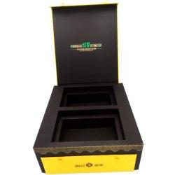 Jade artículo de lujo en caja de papel de embalaje Caja de regalo personalizado pulsera de oro