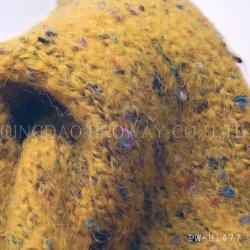 유행 무겁게 한, 다중 색깔이 모직을%s 가진 솔 털실에 의하여, 점화한다