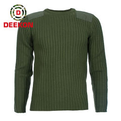Acrylpullover des Armee-grüner Militär-50% der Wolle-50% für Solider