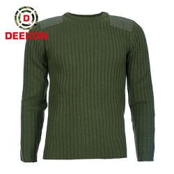 Acrylstrickjacke des Armee-grüne Militär-50% der Wolle-50% für Solider