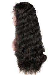 Densità standard ondulata 100% di stile 120% dei capelli umani del merletto della parrucca del Virgin di Remy di colore naturale non trattato anteriore dei capelli umani nessun spargimento delle parrucche superiori di groviglio