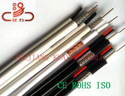 Câble coaxial RG59 combiné+Cat5e/Câble de données Câble ordinateur//// câble de communication Connecteur du câble audio