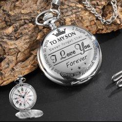 Kundenspezifische preiswerteste Quarz-Ketten-Uhr-Schlüsselketten-Pocket Uhr
