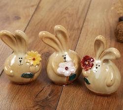 Commerce de gros de fantaisie en forme de lapin en céramique moderne décoration maison