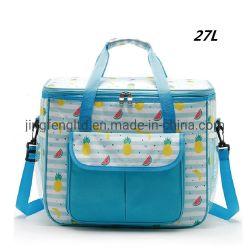 Senhoras de moda de poliéster impermeável Multi Pocket Almoço sacos do Resfriador