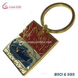 Пользовательский жесткий эмаль золото Металлические кольца для ключей