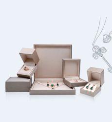 熱い販売の高い等級のWiredrawing PUの革宝石箱、リングボックス、イヤリングボックス、ブレスレットボックス、ネックレスボックス