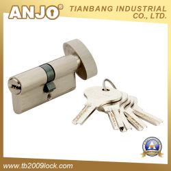 Euro de latón de alta seguridad Perfil de llave maestra del cilindro de cerradura de cilindro/.