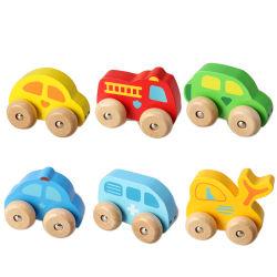 Rodas de animal de brinquedos educativos de madeira
