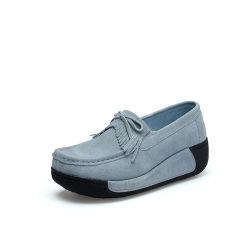 La primavera de las mujeres señoras Suede relajarse mocasines Zapatos de conducción con tamaño grande