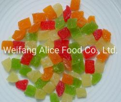 最もよい価格はトロピカル・フルーツの多彩な乾燥されたパイナップルコア固まりのダイスの水分を取り除いた