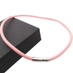 Мода конструкция из нержавеющей стали силиконового каучука Band цепочка