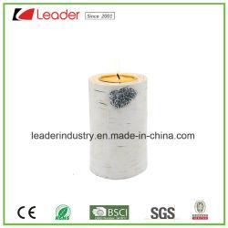 Suporte para velas de resina pintada à mão para decoração e oferta promocional