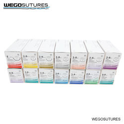 Wego Brand Surgical Suture BSI Approved Surgical Suture with Needle(바늘이 있는 수술용 (흡수성 및 비흡수성)