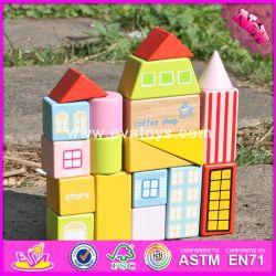 2017 Nouvelle conception 19 morceaux de gros blocs de bois pour les enfants de drôles de chambre de la forme de blocs de bois pour les enfants W13A119