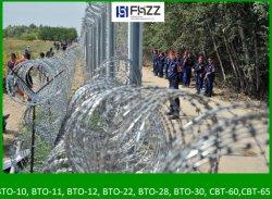 13FT высокий забор Barbed-Wire барьер