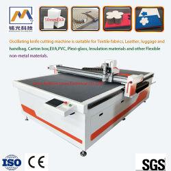 Cnc-automatisches oszillierendes Messer-Ausschnitt-Maschinen-Tuch \ Leder \ Kleid \ Kleid-Material-\ Gewebe-Materialien
