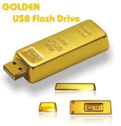 Logo de gravure au laser de haute qualité forme Gold Bar lecteur Flash USB
