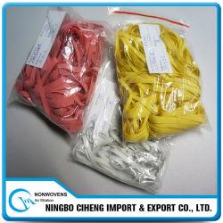 伸ばされたテープ織物の純粋なゴム製カラーカスタムゴムひも