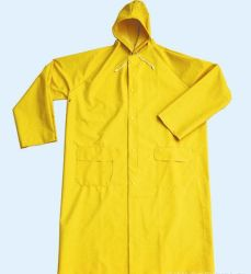 Взрослых с ПВХ/полиэстер водонепроницаемая Workwear Rainwear Плащ
