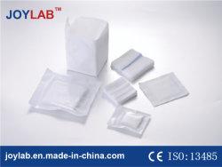 La garza sterile 100% del cotone tampona il rilievo (fornitore con il FCS, CE. Iso diplomato)
