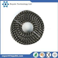 Diamond проволочного каната пилы 7.2-11.5мм гранита мрамора бетонное карьер резки слоя дна дороги усовершенствованная стальной трос
