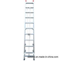 Parte superior da escada de alumínio de extensão segura com agilidade Rope &Polia Flexível