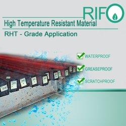 破損抵抗、鋼鉄、鉄のための耐熱印刷できる金属のラベル
