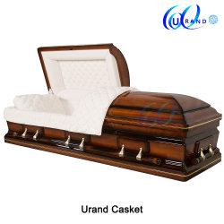 장례식 도매 단단한 나무로 되는 나무 또는 장례 또는 베니어 또는 화장 또는 포플라 또는 개가시나무 또는 버찌 또는 마호가니 또는 중국 사람 또는 재 관