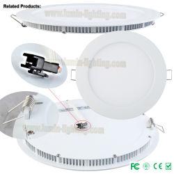 SMD2835 indicatore luminoso di comitato di alluminio ultrasottile del tondo LED 240mm 15W