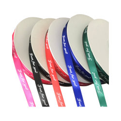 Commerce de gros de la qualité ruban Grosgrain Stripe personnalisé imprimé pour la décoration/Noël/partie/Emballage de cadeau