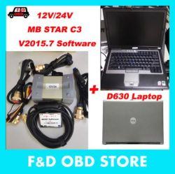 2018 Mercedes 차와 트럭 +D630 휴대용 퍼스널 컴퓨터 Das Xentry V2015.07 HDD 12/24V 가득 차있는 케이블을%s 새로운 OBD2 스캐너 MB 별 C3 12V/24V
