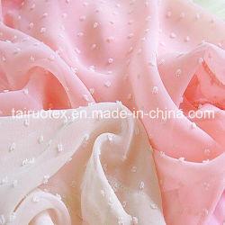 Полиэстер жаккард шифон ткань для леди платья и футболки тканью