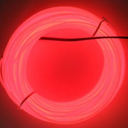 Heißes Selling 2.3mm Diameter EL Wire Different Color 100m Red Electroluminescent