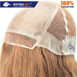 Custom Ladies Elasticated Anti-Slip Silicon Top 및 Lace Human Hair Wig