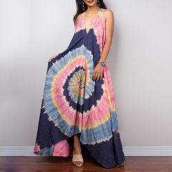 Amazonas-Wunsch-neuer Riemen-Backless Ballkleid-langes Form V-Stutzen Kleid