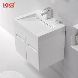 Cuarto de baño moderno Piedra de resina de armario de LAVABO lavabo con Cupc