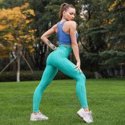Mulheres Calças de ioga na barriga de cintura elevada Adelgaçante Controle Tesouro Perneiras Workout executando collants elevação topo a topo