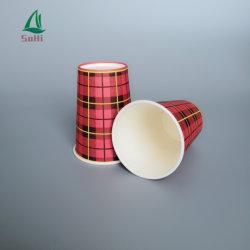 Imprimé jetables à chaud de qualité alimentaire de 6 Oz tasses à café de papier