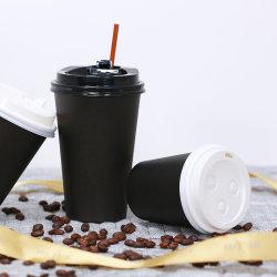 10 oz 12 oz 16 oz Nehmen Einwand Heißgetränke Papierbecher mit Kunststoffdeckel Heraus